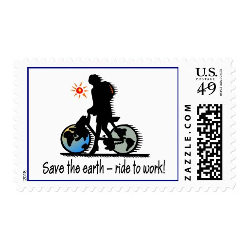 Paseo a trabajar sellos postales