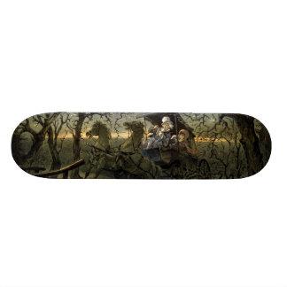 "Paseo a través del ""bosque frecuentado skate board"
