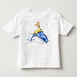 Paseo amarillo del delfín del laboratorio t-shirts
