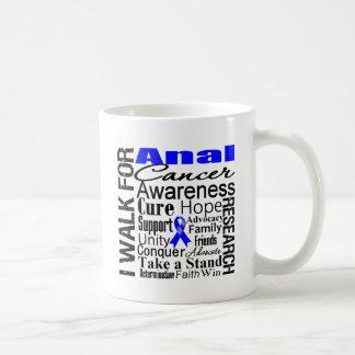 Paseo anal de la conciencia del cáncer tazas de café