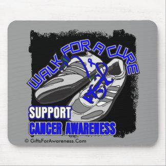 Paseo anal del cáncer para los zapatos de una cura tapete de raton