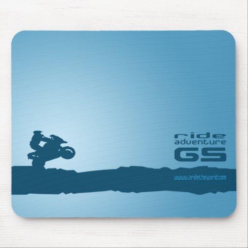 Paseo-Aventura-GS azul Mousepads Alfombrillas De Ratón