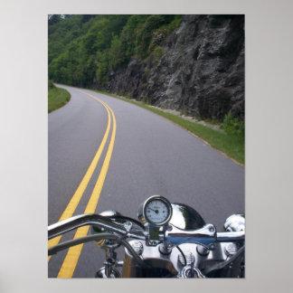 Paseo azul 2 de la motocicleta de Ridge Póster