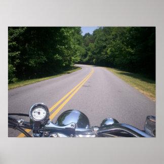 Paseo azul 3 de la motocicleta de Ridge Póster