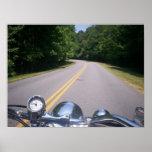 Paseo azul 3 de la motocicleta de Ridge Posters