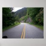 Paseo azul 8 de la motocicleta de Ridge Posters