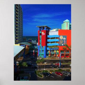 Paseo Bandshell del océano de Daytona Beach y arte Póster