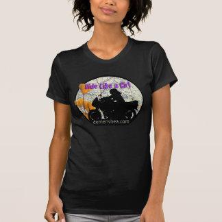 paseo como un sportbike del chica… camisetas