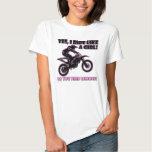 Paseo como una camiseta del motocrós de la bici de camisas