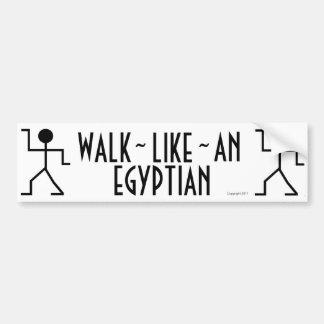 Paseo como una pegatina para el parachoques egipci etiqueta de parachoque