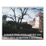 Paseo con 2011-2012 americana Calend de dieciocho  Calendarios De Pared