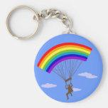 Paseo con llavero del arco iris