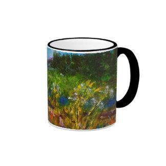"""""""Paseo conmigo"""" arte de la taza del paisaje"""
