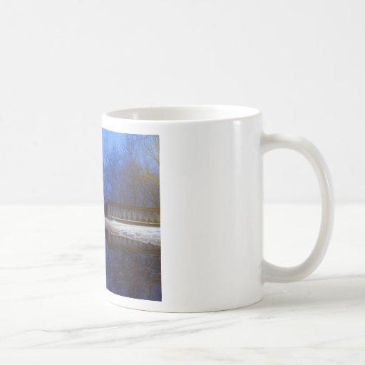 Paseo crepuscular tazas de café