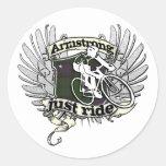Paseo de Armstrong apenas Etiquetas Redondas