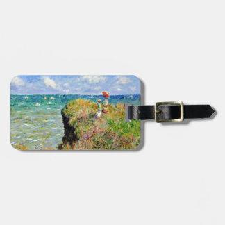 Paseo de Claude Monet Clifftop Etiqueta De Maleta