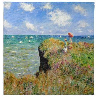 Paseo de Claude Monet Clifftop Servilleta Imprimida