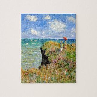 Paseo de Claude Monet Clifftop Rompecabezas Con Fotos