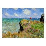 Paseo de Claude Monet Clifftop Tarjeta De Felicitación