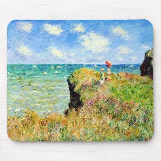 Paseo de Clifftop en Pourville de Claude Monet Alfombrillas De Ratón