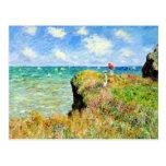 Paseo de Clifftop en Pourville de Claude Monet Tarjeta Postal