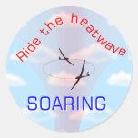 … Paseo de elevación la ola de calor Pegatina Redonda