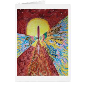 Paseo de fuego conmigo - tarjeta de felicitación m