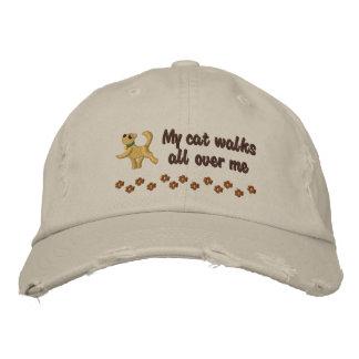 Paseo de gato gorra de béisbol bordada