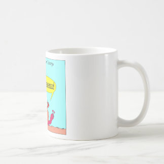 Paseo de la barra en dibujo animado del caracol tazas de café