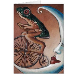 Paseo de la bici tarjeta de felicitación