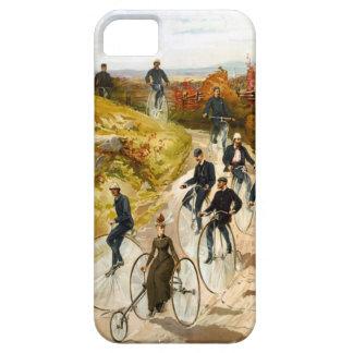 Paseo de la bicicleta del vintage en el país funda para iPhone SE/5/5s