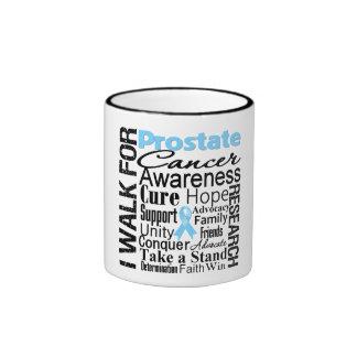 Paseo de la conciencia del cáncer de próstata tazas