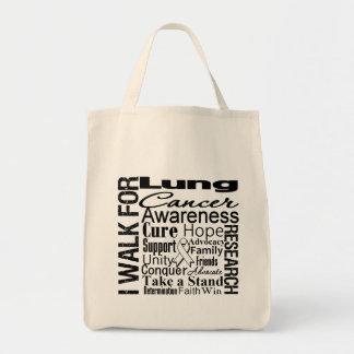 Paseo de la conciencia del cáncer de pulmón bolsa de mano