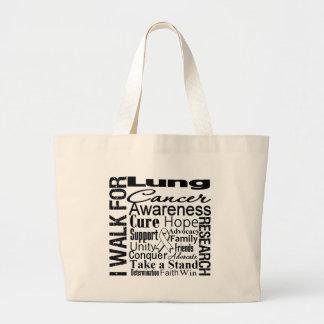 Paseo de la conciencia del cáncer de pulmón bolsas