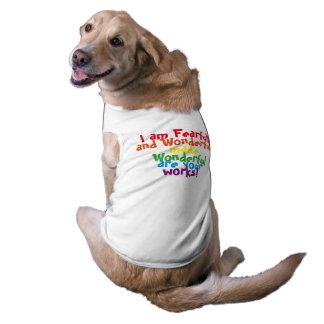 Paseo de la fe playera sin mangas para perro