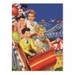 Paseo de la montaña rusa del perro de los globos d tarjetas postales