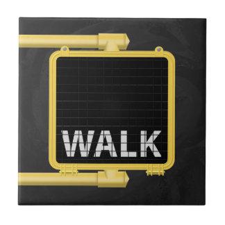 Paseo de la muestra del paso de peatones de Nueva  Azulejos