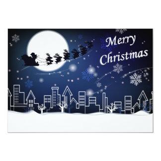 Paseo de la Nochebuena con la tarjeta de la Invitación 12,7 X 17,8 Cm