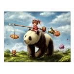 Paseo de la panda tarjeta postal