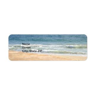 Paseo de la playa etiqueta de remitente