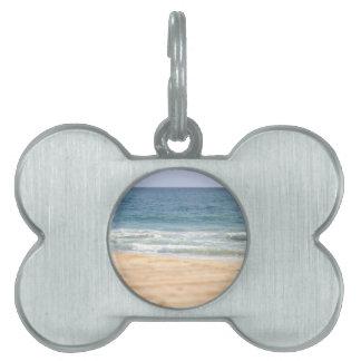 Paseo de la playa placa de nombre de mascota