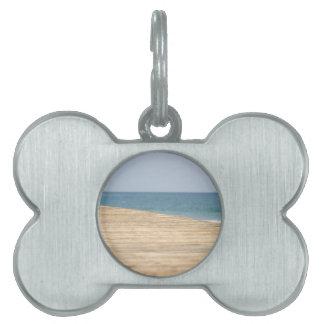 Paseo de la playa placas de nombre de mascota