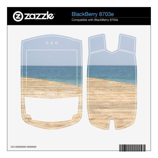 Paseo de la playa skins para BlackBerry 8703e
