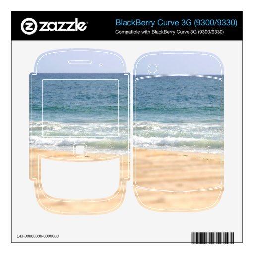 Paseo de la playa skins para BlackBerry curve