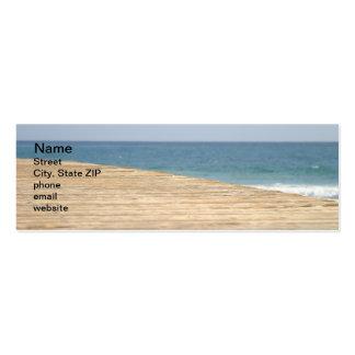 Paseo de la playa tarjetas de visita mini