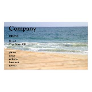 Paseo de la playa tarjetas de visita