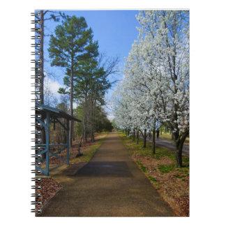 Paseo de la primavera spiral notebook