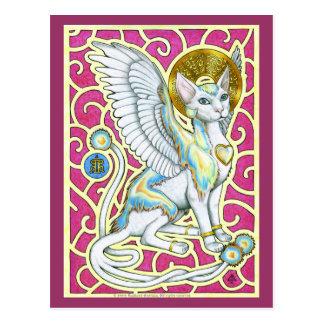 Paseo de los ángeles en la postal de cuatro patas