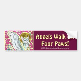 Paseo de los ángeles en pegatina para el parachoqu etiqueta de parachoque