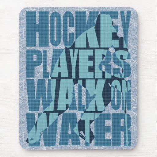 Paseo de los jugadores de hockey en el agua tapete de ratones